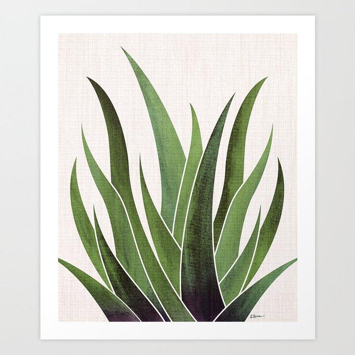 Vintage Agave / Desert Succulent Art Print