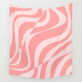 Red Fracture Pattern Wall Tapestry