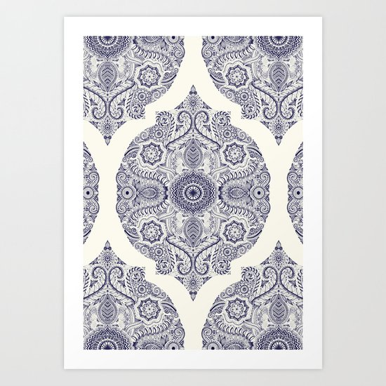 Explorations in Ink & Symmetry Art Print