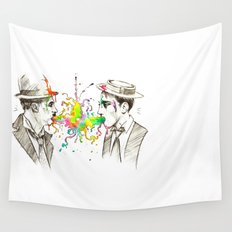 The Tramp v. Stone Face Wall Tapestry
