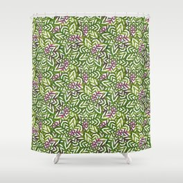 I don't need to improve - Green and pink Shower Curtain