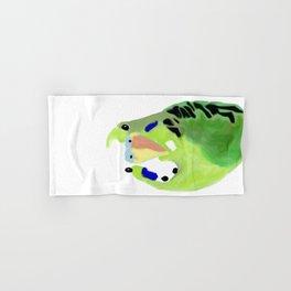 Green Budgie Parakeet bird Hand & Bath Towel