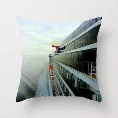 Crusing Alaska Throw Pillow