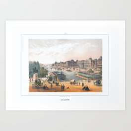 Paris art print Paris Decor office decoration vintage decor LAC BOIS BOULOGNE of Paris Art Print