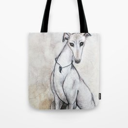 The Greyhound Wearing His Thorn Tote Bag