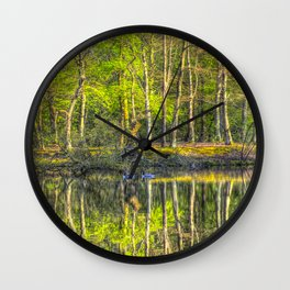The Pond Reflections  Wall Clock
