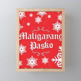 Maligayang Pasko Framed Mini Art Print