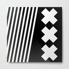 Bold Minimalism 2 (Black and White) Metal Print