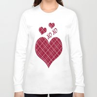 burgundy Long Sleeve T-shirts featuring Burgundy Pattern by Christina Rollo