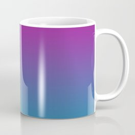 Deep Gradient Mi-Parti (Half And Half) Design! (Purple, Green, Pink, and Blue) Coffee Mug
