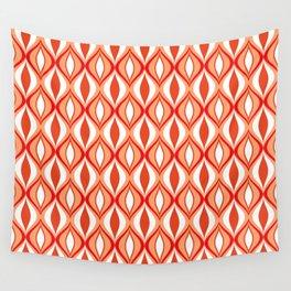 Mid-Century Modern Diamonds, Orange and White Wall Tapestry