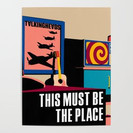 Talking Heads - This Must Be The Place Poster