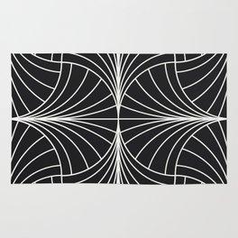 Diamond Series Inter Wave White on Charcoal Rug