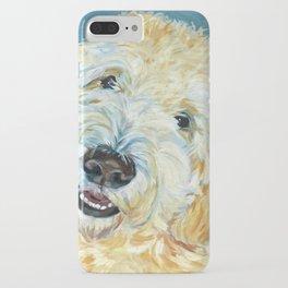 Stanley the Goldendoodle Dog Portrait iPhone Case