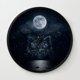 Nocturnal sea Wall Clock