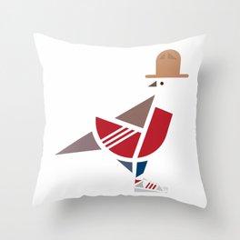 Because I'm Happy Bird Throw Pillow