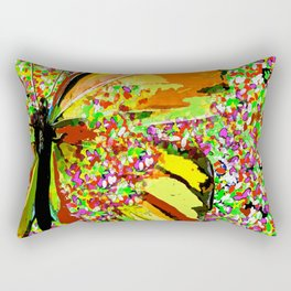 Butterfly Autumn So Pretty ORANGE AND GOLD Rectangular Pillow