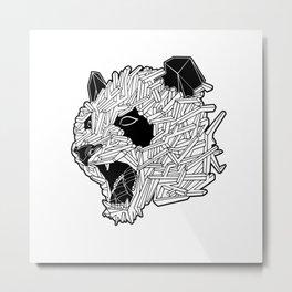 Geometric Panda Metal Print