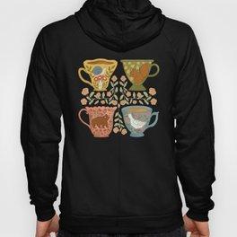 Floral Animal Teacups Hoody