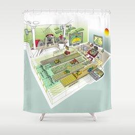 Agrarian Shower Curtain