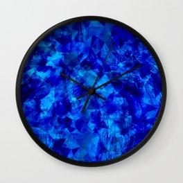 Cobalt Facets Wall Clock