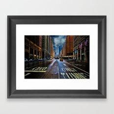 Rain On Park Avenue Framed Art Print