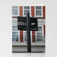 221b Stationery Cards featuring 221B by Sandrine Bandura