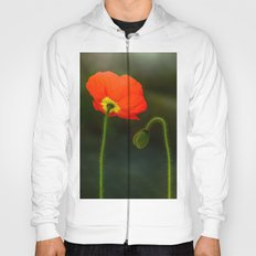 Two red poppies Hoody