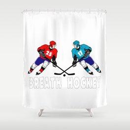 Fighting hockey players Shower Curtain
