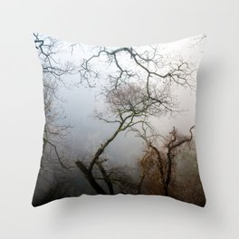 Misty Morning in Scotland Throw Pillow