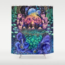 Moon world Shower Curtain
