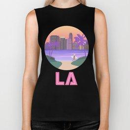 Los Angeles City Art Biker Tank