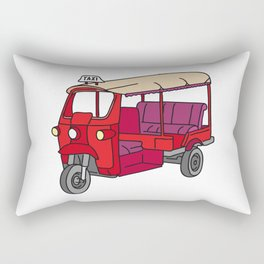 Red tuktuk / autorickshaw Rectangular Pillow