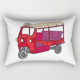 Red tuktuk / autorickshaw Rectangular Pillow