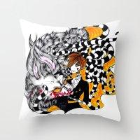 lantern Throw Pillows featuring Lantern by T.I.B ARTWORK