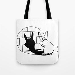 Bunny Shadow Play Metal Rock Easter Bunny Gift Tote Bag