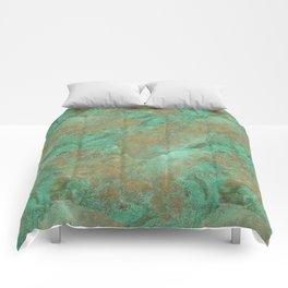 Verdigris Patched Texture Comforters