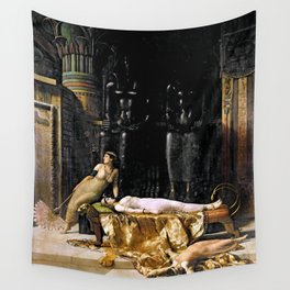 The Death Of Cleopatra Wall Tapestry