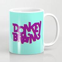 donkey Mugs featuring Donkey Brain by Josh LaFayette