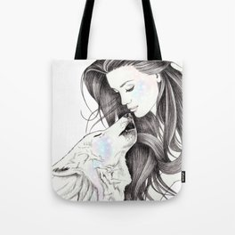 Witch Wolf Tote Bag