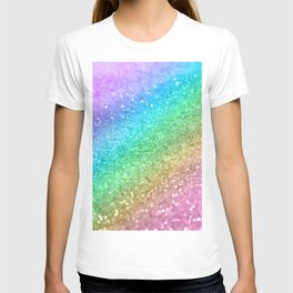 Rainbow Princess Glitter #1 (Photography) #shiny #decor #art #society6 T-shirt
