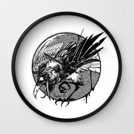 Noisy raven Wall Clock