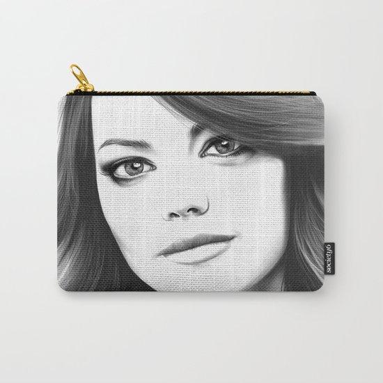Emma Stone minimalist digital portrait Carry-All Pouch
