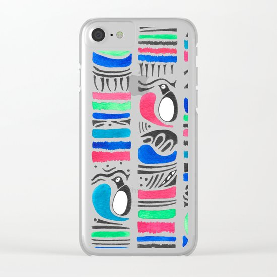 Penguin Tribe Clear iPhone Case