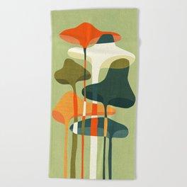Little mushroom Beach Towel