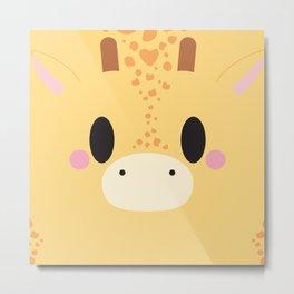 Giraffe Block Metal Print