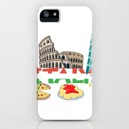 Love Italy and Everything italy Culture iPhone Case