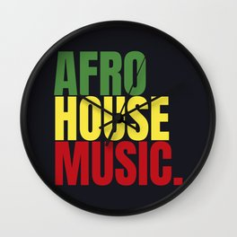 Afro house Wall Clock