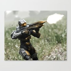 Covering Fire Canvas Print