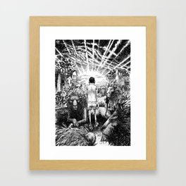 nightmare with lions Framed Art Print